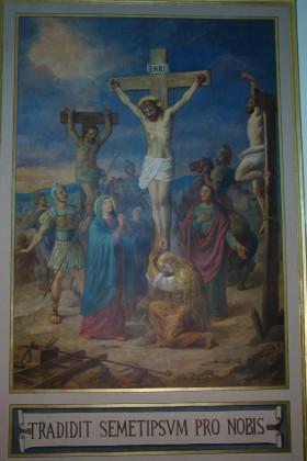 """Restauro conservativo del dipinto murale """"La Crocifissione"""" autore Natale Penati Cattedrale di Manfredonia"""
