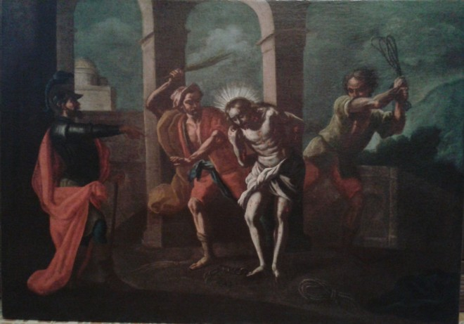 """Restauro conservativo dipinto olio su tela """"La flagellazione di Gesù Cristo""""  Maddalena Restauri"""