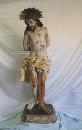 """Restauro conservativo di n°1 opera lignea raffigurante Gesù alla colonna  che si venera nella Chiesa San Lorenzo Maiorano """"cattedrale"""" Manfredonia (FG)"""