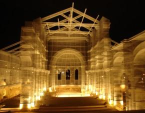 """Siponto: con la rete metallica ricostruita basilica del XII secolo…….""""NOI C' ERAVAMO….!!!"""""""